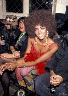 Naomi Campbell   afro, big hair, african hair, texturized hair, black girl's hair, brown hair, natural hair.