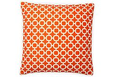 Jiti Blocks Outdoor Pillow, Orange X 4
