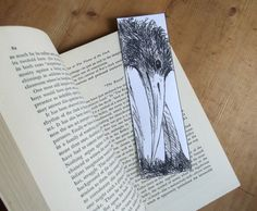 creepy halloween bookmarks digital download by ollina on Etsy