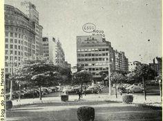 """Fotografias publicadas em """"O Malho"""", no ano de 1952 .  AVENIDA ATLÂNTICA, EM COPACABANA  AVENIDA RIO BRANCO  RUA PRIMEIRO DE MARÇO, ESQUINA ..."""