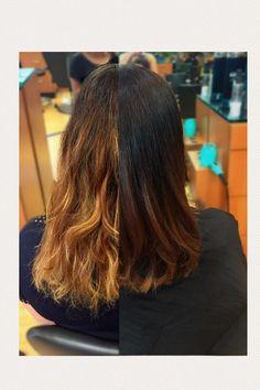 subtle caramel blonde color melt balayage by Kayla! subtle balayage, warm blonde, brunette