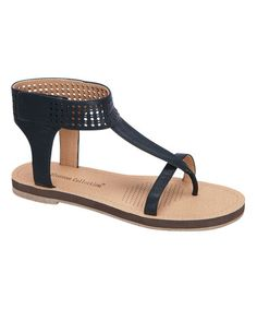 This Black Strap Herba Sandal by Blossom is perfect! #zulilyfinds