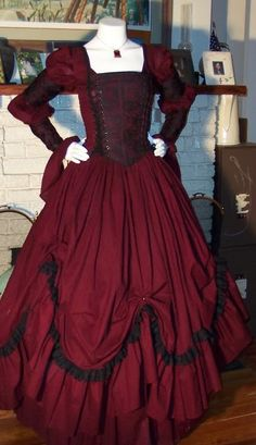 Dracula Gothic  Renaissance Pirate Gown Dress by zachulascrypt, $225.00  CAN'T THEY MAKE UP THEIR MIND ON WHAT IT IS?