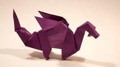 Origami Dragon by Edwin Corrie - Yakomoga Origami tutorial Origami Design, Diy Origami, Origami Simple, Origami And Kirigami, Oragami, Quilling Images, Paper Quilling Designs, Paper Folding Crafts, Paper Crafts Origami