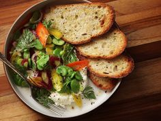 Fava bean and carrot salad with fresh ricotta