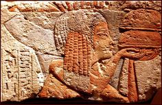 relief of fragment depicting attendants of the royal family, this is Ankhesenaten´s nurse, Tiy Amarna Art in the Metropolitan