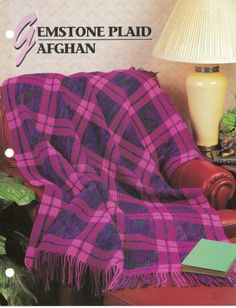 Gemstone Plaid Afghan Crochet Pattern Annies Attic Crochet & Quilt Club