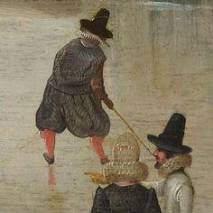Schaatsenrijden in een dorp, Hendrick Avercamp, ca. 1610 - Rijksmuseum