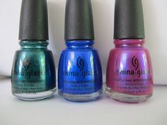 hanks to the great people at BeautyStopOnline.com, one lucky U.S. resident will win THREE of my personal favorite China Glaze polishes! One reader will win one bottle each of China Glaze Watermelon Rind, China Glaze Frostbite, and China Glaze Reggae to Riches. (*bottles pictured are my own personal bottles. The winner will receive brand new bottles*).