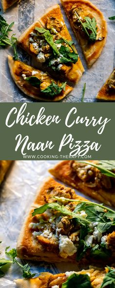 Chicken Curry Naan Pizza #chickencurry #weeknightdinner #easyrecipes Asian Chicken Recipes, Easy Asian Recipes, Chicken Thigh Recipes, Easy Healthy Recipes, Easy Dinner Recipes, Indian Food Recipes, Naan And Curry, Lunches And Dinners, Meals