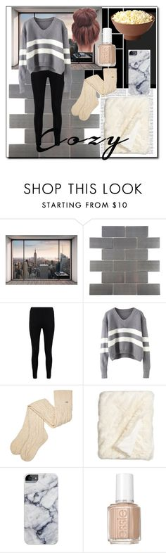 """""""Untitled #103"""" by mmevp ❤ liked on Polyvore featuring Oris, Komar, Merola, Boohoo, UGG, Nordstrom, Essie and cozychic"""
