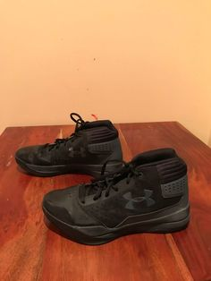 7014dff54f7 Under Armour Black Youth High Top Basketball Sneakers - SIze M. Laura Nava  · Boys  Shoes