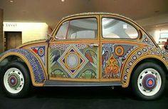 ☮ American Hippie ☮ Wanderlust .. VW Bug painted