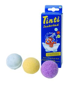 Makes a great stocking filler: Eco bath balls with hidden surprise. All natural and kind to skin as well as nature. Tinti Magic Bath 3 Pack