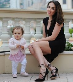 Tamara, who welcomed Sophia with her husband Jay last year, takes her bundle of joy everywhere with her 14 Month Old, Monaco Grand Prix, Flower Girl Dresses, Husband, Celebs, Glamour, Wedding Dresses, Jay, Celebrity Style