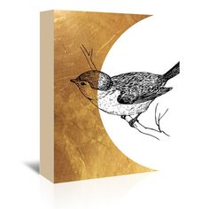 """East Urban Home Bird 4 Graphic Art on Wrapped Canvas Size: 48"""" H x 32"""" W x 1.5"""" D"""