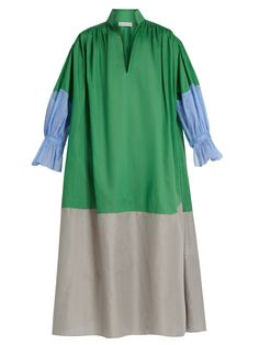Click here to buy Vika Gazinskaya Colour-block cotton-poplin dress at MATCHESFASHION.COM