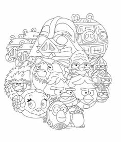 Angry Birds Star Wars Coloring Page