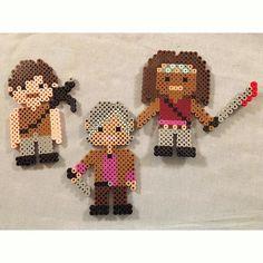 The Walking Dead (Daryl, Carol and Michonne) perler beads by  kauai17