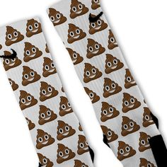 Poop Emoji Customized Nike Elite Socks!! by FreshElites on Etsy https://www.etsy.com/listing/220194746/poop-emoji-customized-nike-elite-socks