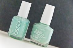 Lovely colour for spring. <3 http://www.marie-theres-schindler.de/dupe-essie-mint-candy-apple-und-maybelline-mint-life/