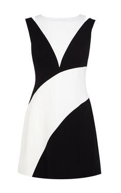 Karen Millen 60'S colourblock dress
