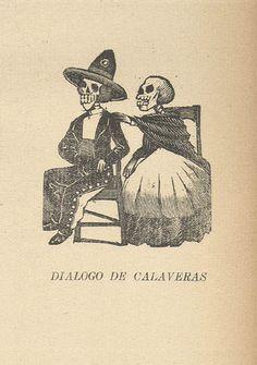 'Diálogo de calaveras'. Jose Guadalupe Posada.