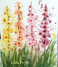 Sketching in Nature: Journal - Gladioli - Splash and Splatter - Lin Frye, North Carolina
