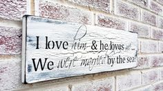 """Beach Wedding, Tropical Wedding, Reception decorations, """"...we were married by the sea"""" Dominican Republic Wedding Anniversary gift Rustic"""