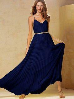 Victoria's Secret Knife-pleat Maxi Dress