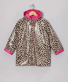 toddler girls raincoats leopard