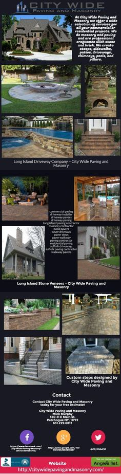 City Wide Paving & Masonry is your go-to Long Island Masonry Company. We are Long Islands most trusted Paving, Masonry & Bricklaying Contractor.  #patiopavers #paverdriveway #paversteps #pavingcontractor