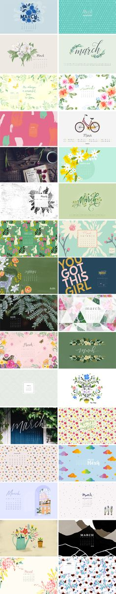 March 2018 – Wallpaper Round-Up – // The Chic Type Blog