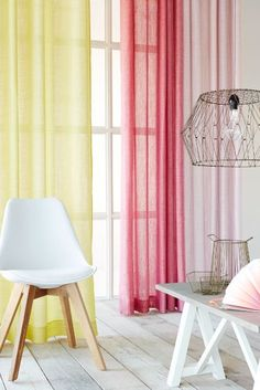 The #Secco collection is a double width #fabric that comes in a mix of coloured and natural #yarns. They come in #pastel as well as fluorescent shades that include lemon, pink pastel as well as shocking pink. #Eijffinger