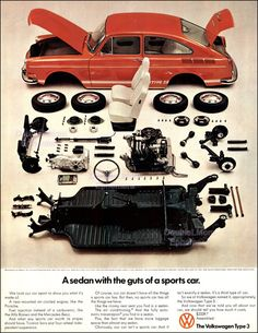 1970 Volkswagen Type 3 Ad // Old VW Ads // by DoubleLMomEphemera