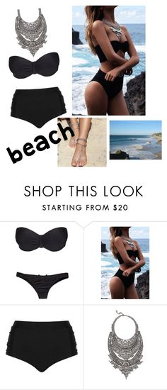 """""""Beach :)"""" by aida1412 ❤ liked on Polyvore featuring Hot Anatomy, Cactus and DYLANLEX"""