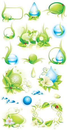 Environmental protection material vector download