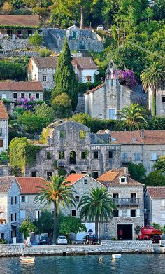 Perast ~ is an old town on the Bay of Kotor in Montenegro.
