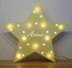 Nachtlicht kleine Sterne Lampe Geschenk Baby Geburt Taufe personalisiert LED | eBay