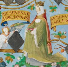 Elizabeth of Aragon, Queen consort of Portugal Aragon, History Of Portugal, Modern Artists, British Library, My Heritage, Renaissance Art, Illuminated Manuscript, Middle Ages, Royals
