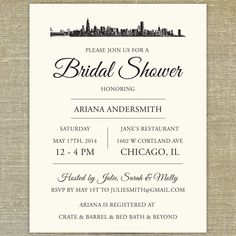 Chicago Skyline set of 25 any occasion invitations by PixieChicago, $50.00