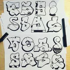 Graffiti Letter S II - Letters/Graffiti - Art Graffiti Text, Graffiti Letter S, Graffiti Lettering Alphabet, Tattoo Lettering Fonts, Graffiti Tagging, Graffiti Drawing, Street Art Graffiti, Graffiti Artists, Graffiti Designs