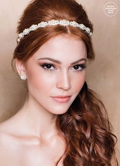 4 tiara hairstyles for brides of different styles - Constance Zahn Bridal Makeup For Fair Skin, Bridal Makeup Looks, Bride Makeup, Wedding Hair And Makeup, Hair Makeup, Red Hair Brides, Redhead Bride, Black Wedding Hairstyles, Redhead Makeup
