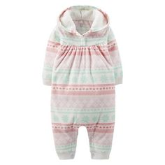Just One You™Made by Carter's® Newborn Girls' Fair Isle Jumpsuit - Light Pink 3 M$9.99