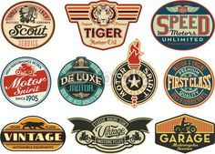 vector logo vintage flame - Google Search