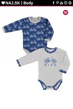 Dojčenské body s dlhým rukávom Koala BIKE 2 ks v balení modro-biele Panda, Onesies, Rompers, Bike, Clothes, Fashion, Bicycle Kick, Tall Clothing, Moda