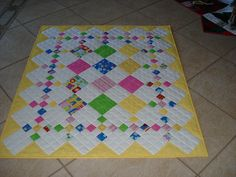 Diamond Patch baby quilt, pattern here http://www.clotilde.com/detail.html?prod_id=10685