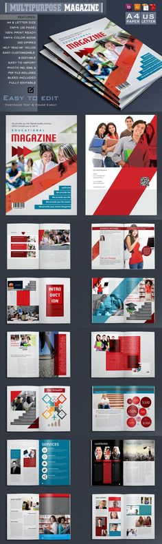 #magazine #design from magraph | DOWNLOAD: https://creativemarket.com/magraph/606264-Multi-purpose-Magazine-Template?u=zsoltczigler