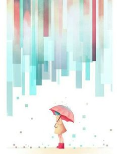 in the rain Illustration Art And Illustration, Illustrations, Whatsapp Wallpaper, Umbrella Art, Ouvrages D'art, Singing In The Rain, Art Graphique, Art Design, Art Plastique