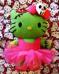 MY NEW BALLERINA ZOMBIE HELLO KITTY...SOOO ADORABLE!!! LOVES IT!!!